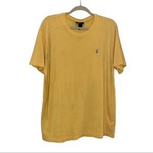 Ralph Lauren Yellow Short Sleeve T-Shirt - Medium